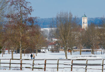 Bad Birnbach-Kurpark im Winter